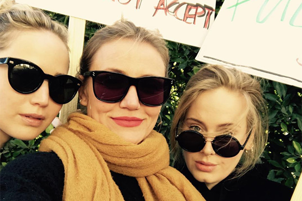 Adele, Jennifer Lawrence & Cameron Diaz Team Up For 2018 Women's March