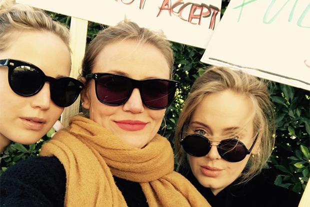 Jennifer Lawrence, Cameron Diaz and Adele, Instagram, SL