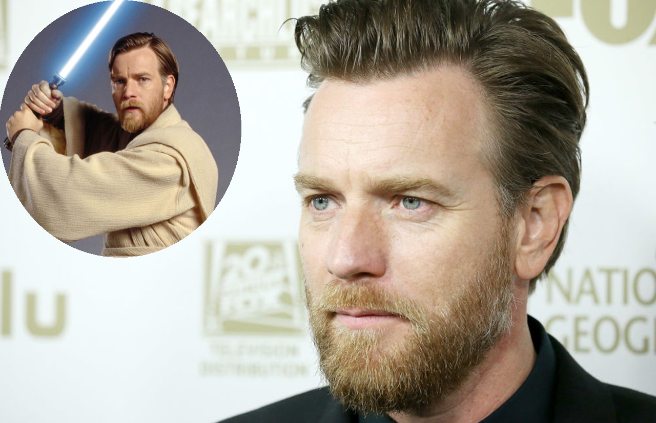 Ewan McGregor asked about Obi-Wan film, sporting Kenobi-esque beard