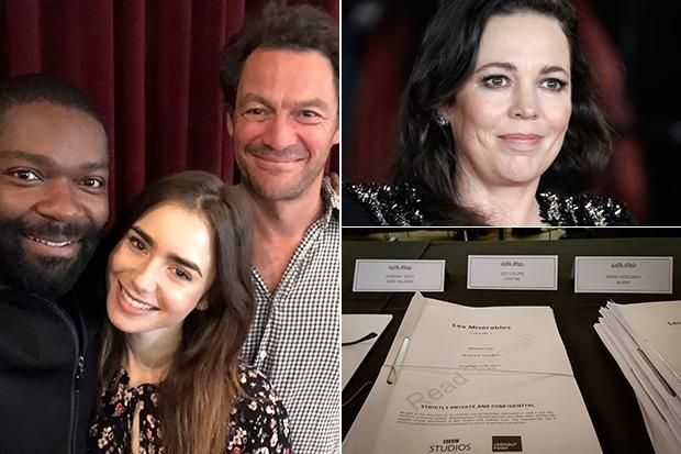 Les Misérables cast, BBC & Getty, SL