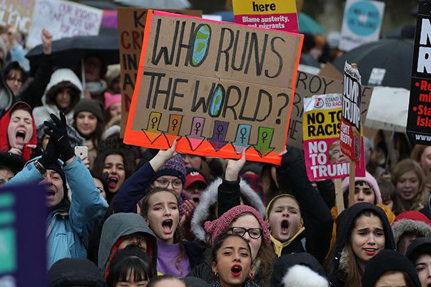 London's Women's March, Getty, SL