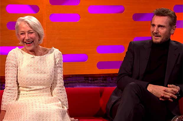 Liam Neeson reveals how he fell for Helen Mirren