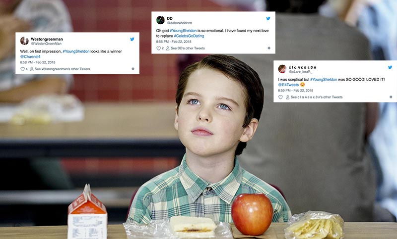 Iain Armitage as Sheldon Cooper in Young Sheldon (Channel 4, HF)