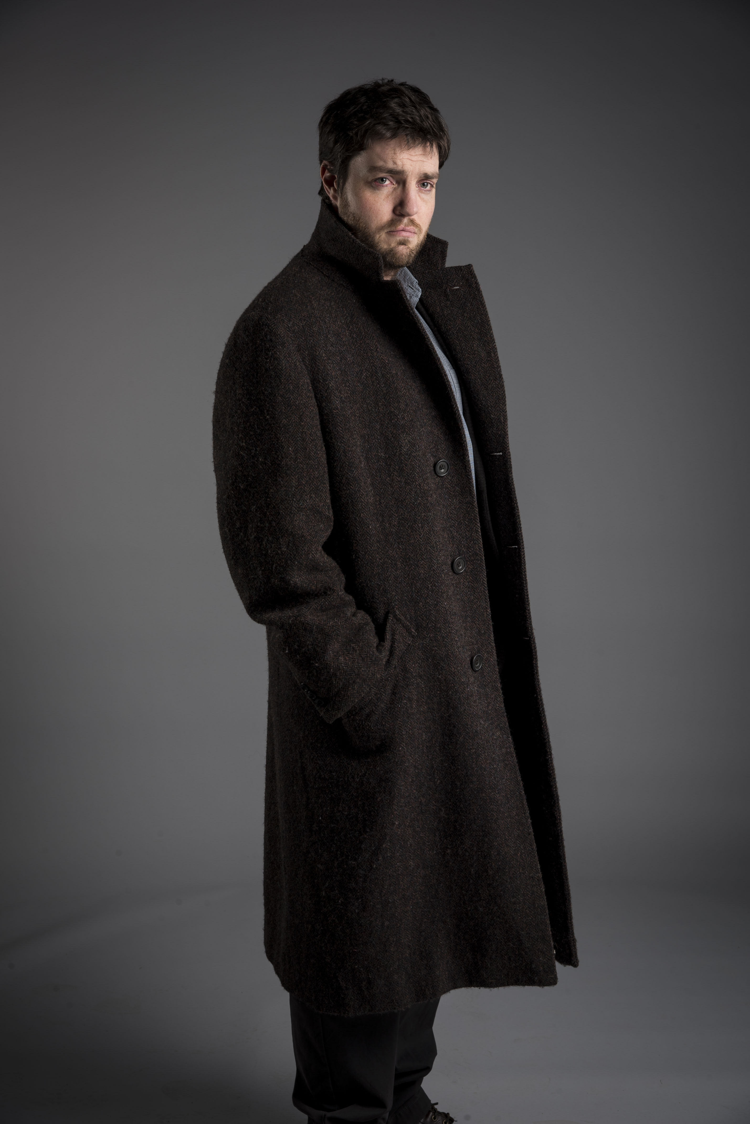 Tom Burke as Cormoran Strike (BBC, EH)