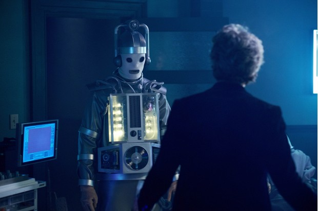 WARNING: Embargoed for publication until 00:00:01 on 20/06/2017 - Programme Name: Doctor Who S10 - TX: 24/06/2017 - Episode: n/a (No. 11) - Picture Shows: ***EMBARGOED UNTIL 00:01hrs 20th JUNE 2017*** Mondasian Cyberman, The Doctor (PETER CAPALDI) - (C) BBC/BBC Worldwide - Photographer: Simon Ridgway  BBC, TL