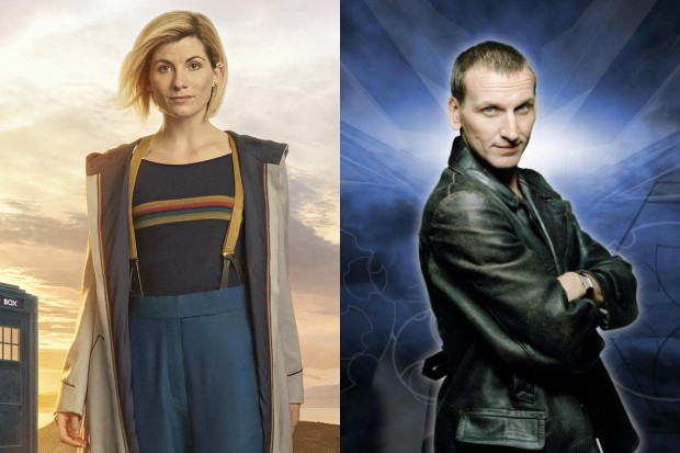 Jodie Whittaker and Christopher Eccleston as the Thirteenth and Ninth Doctors in Doctor Who (BBC, HF)