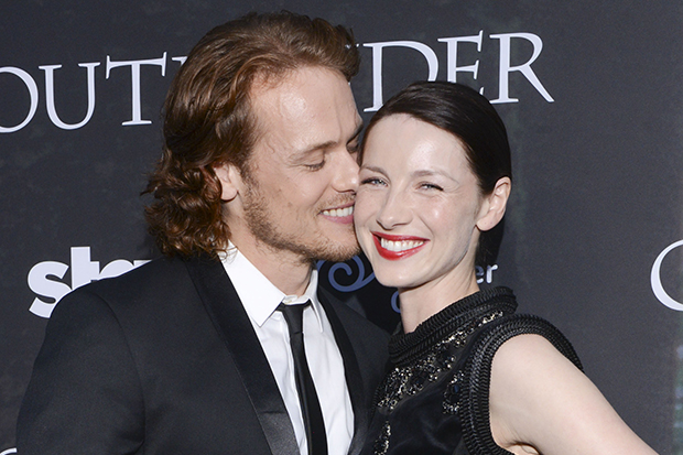 "Sam Heughan and Caitriona Balfe at Starz Series ""Outlander"" Premiere - Comic-Con International 2014"