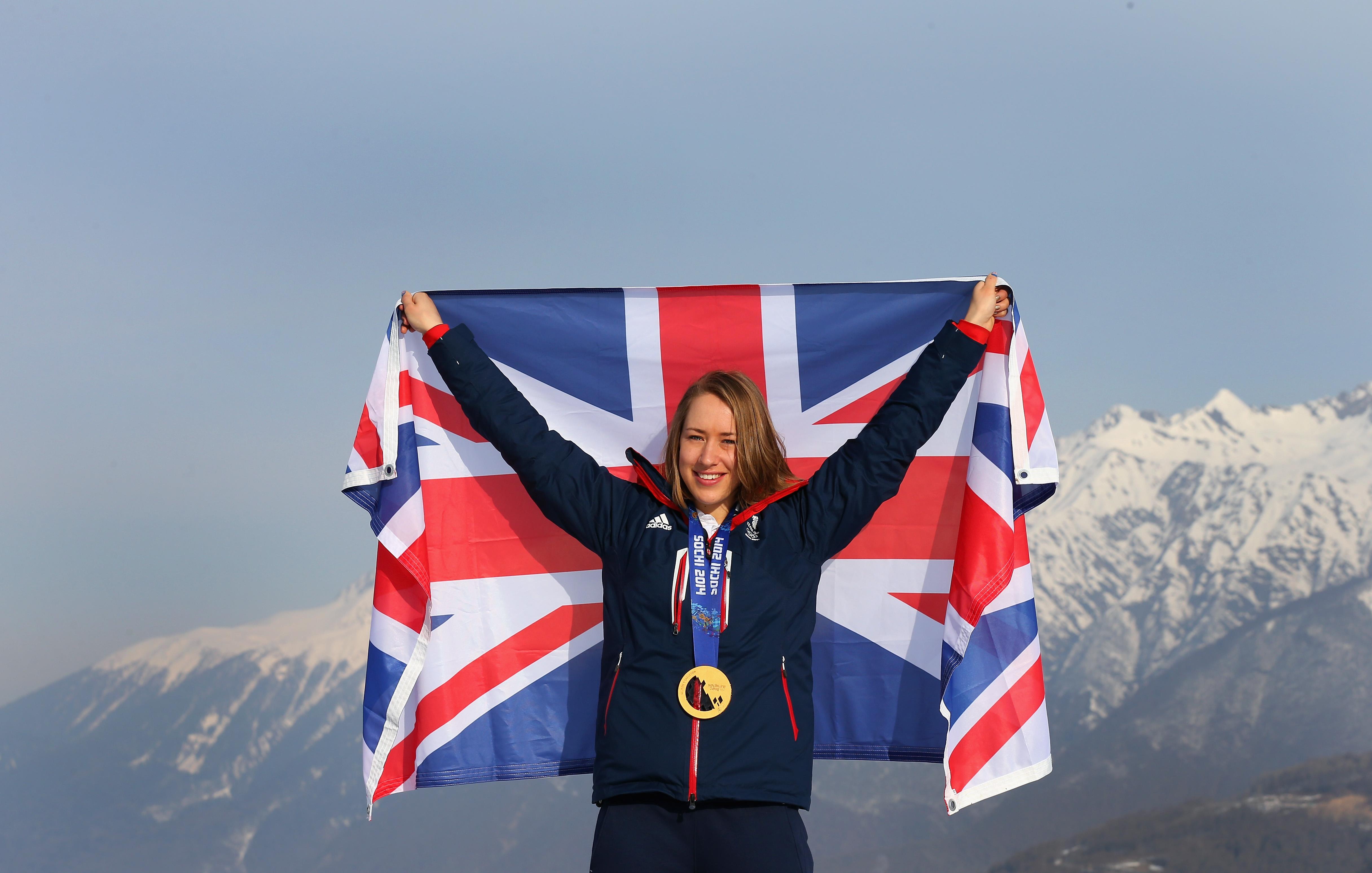 Lizzy Yarnold Winter Olympics gold medal Sochi 2014