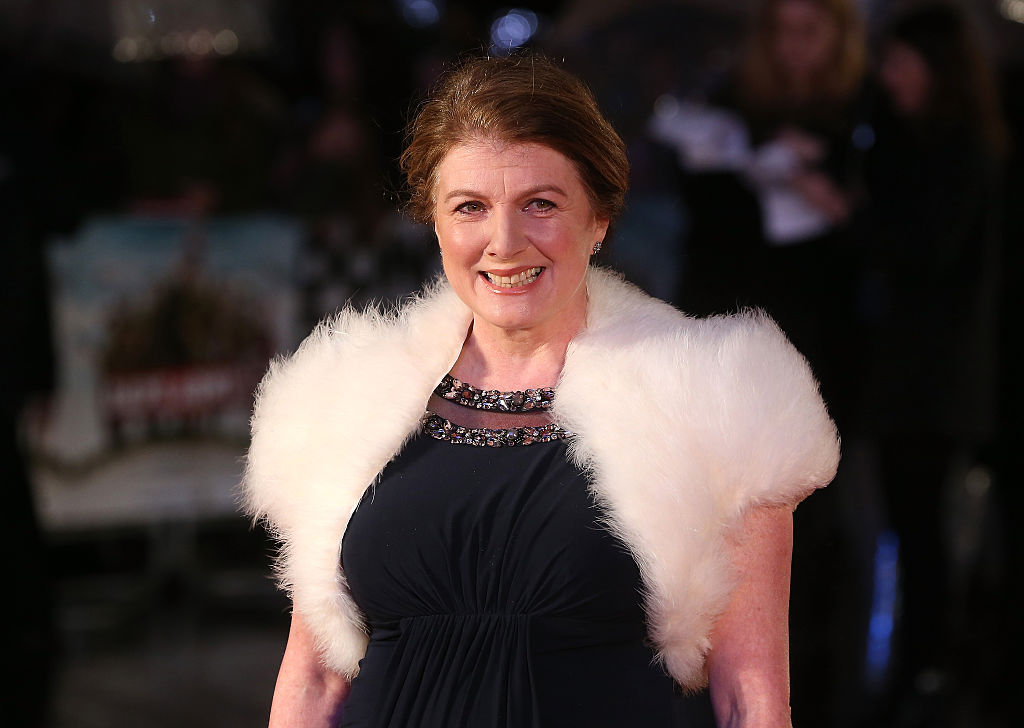 LONDON, ENGLAND - JANUARY 26:  Felicity Montagu attends 'Dad's Army' World Premiere at the Odeon Leicester Square on January 26, 2016 in London, United Kingdom.  (Photo by Fred Duval/FilmMagic)