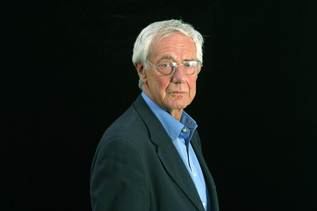 "British film critic and television personality Barry Norman, pictured at the Edinburgh International Book Festival where he talked about his memoir entitled ""And Why Not?."" The Book Festival is the world's biggest literary festival with appearances by over 500 authors from across the world. (Photo by Colin McPherson/Corbis via Getty Images)"