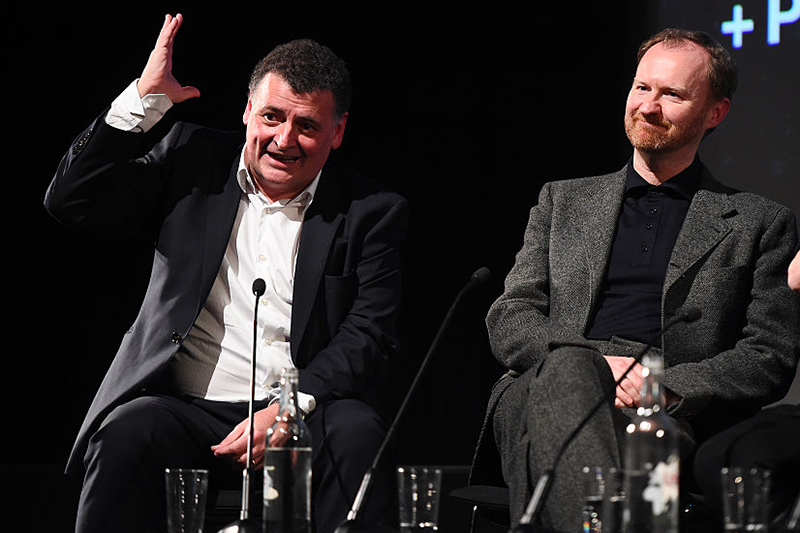 Steven Moffat and Mark Gatiss at a Sherlock screening in 2017 (Getty, HF)