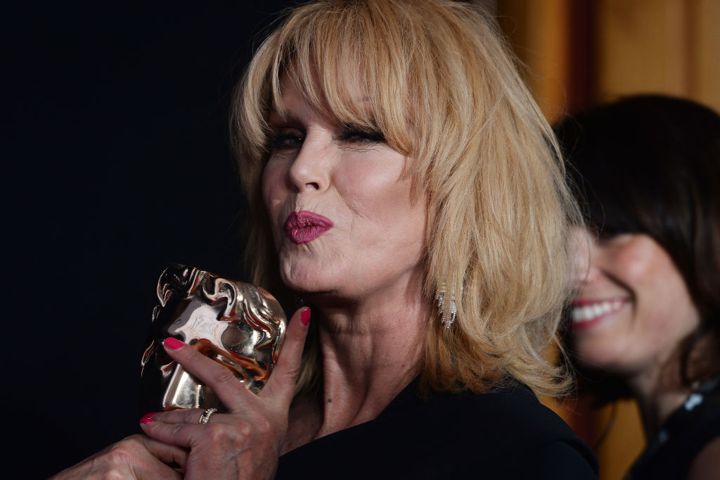 LONDON, ENGLAND - MAY 14:  Joanna Lumley poses with the Fellowship award in the Winner's room at the Virgin TV BAFTA Television Awards at The Royal Festival Hall on May 14, 2017 in London, England.  (Photo by Dave J Hogan/Dave J Hogan/Getty Images)