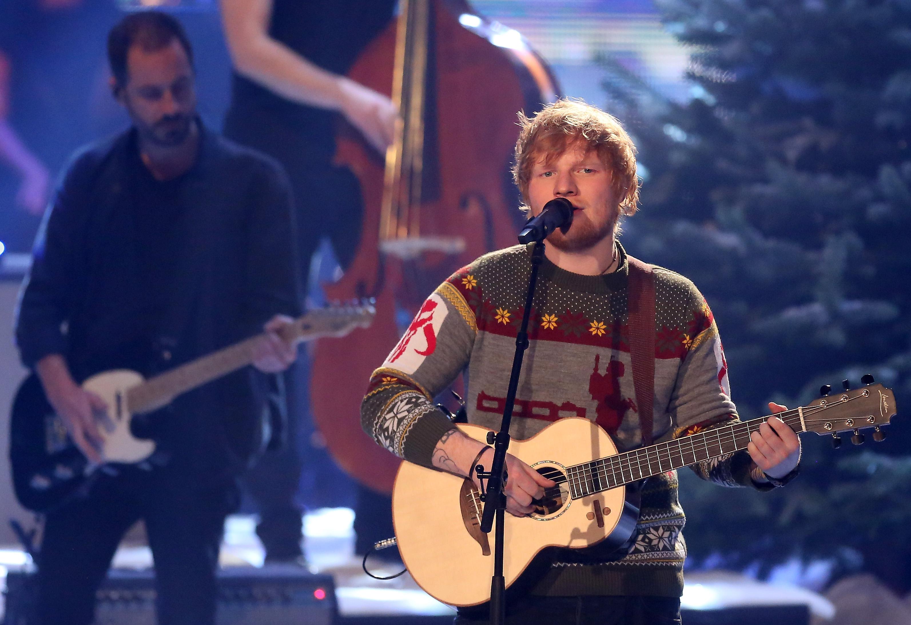Ed Sheeran at The Voice of Germany finals, Berlin, 2017