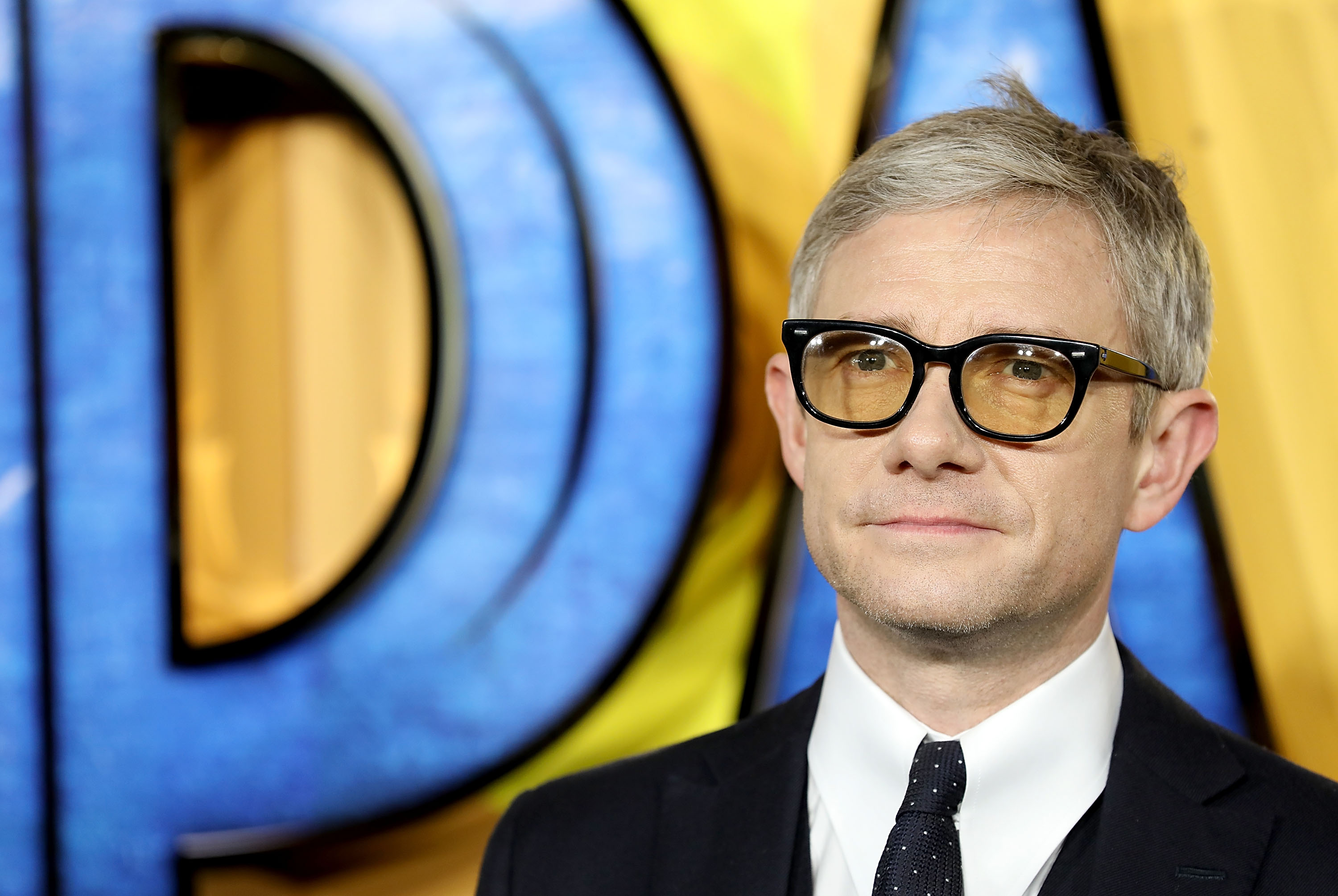 LONDON, ENGLAND - FEBRUARY 08:  Martin Freeman attends the European Premiere of 'Black Panther' at Eventim Apollo on February 8, 2018 in London, England.  (Photo by Tim P. Whitby/Tim P. Whitby/Getty Images)  Getty, TL