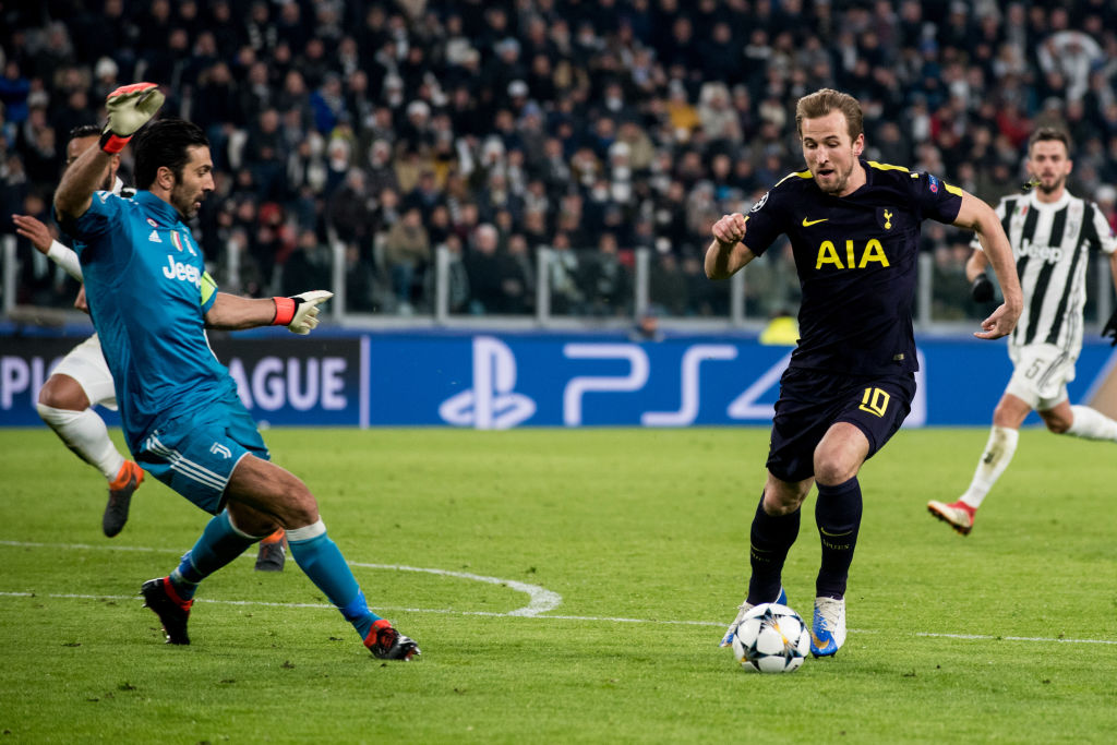 JUVENTUS STADIUM, TURIN, PIEDMONT/ITALY, ITALY - 2018/02/13: Harry Kane (Tottenham) during the Champions League match Juventus FC vs Tottenham Hotspurs FC. Final score was 2-2 in Juventus Stadium. (Photo by Alberto Gandolfo/Pacific Press/LightRocket via Getty Images)