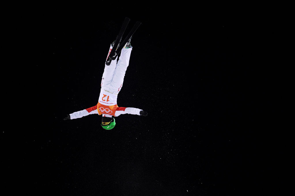 PYEONGCHANG-GUN, SOUTH KOREA - FEBRUARY 15: Fanyu Kong of China competes during the Freestyle Skiing Ladies' Aerials Qualification on day six of the PyeongChang 2018 Winter Olympic Games at Phoenix Snow Park on February 15, 2018 in Pyeongchang-gun, South Korea. (Photo by David Ramos/Getty Images)