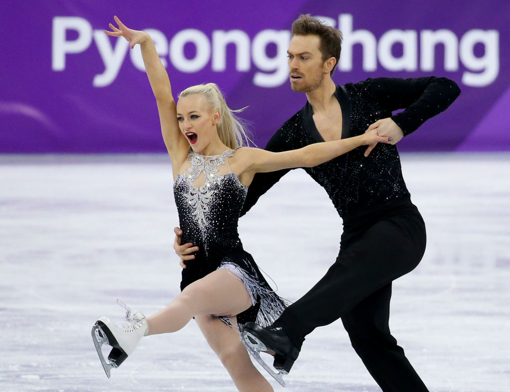 Penny Coomes and Nicholas Buckland of Great Britain during the Figure Skating Ice Dance Short Dance program on day ten of the PyeongChang 2018 Winter Olympic Games (Getty, JG)