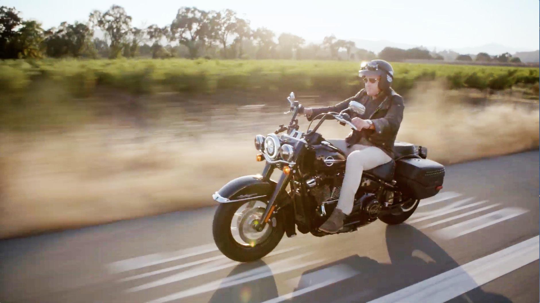 Riding a Harley-Davidson through California's wine country