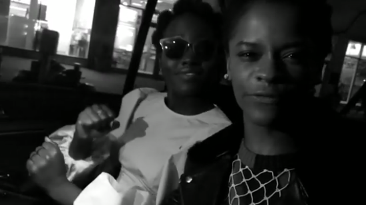 Lupita Nyong'o and Letitia Wright freestyle rap