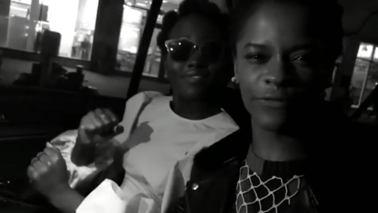 Lupita Nyong'o and Letitia Wright freestyle rap
