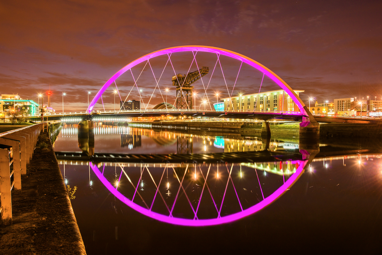 Glasgow's Clyde Arc bridge (also known as Finnieston and Squinty Bridge)