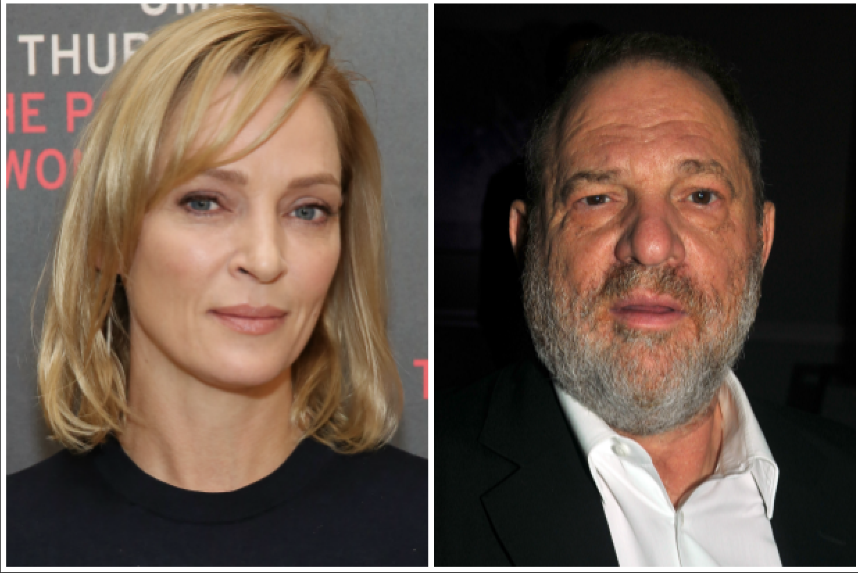 Weinstein tried to 'shove himself' on me, says Uma Thurman
