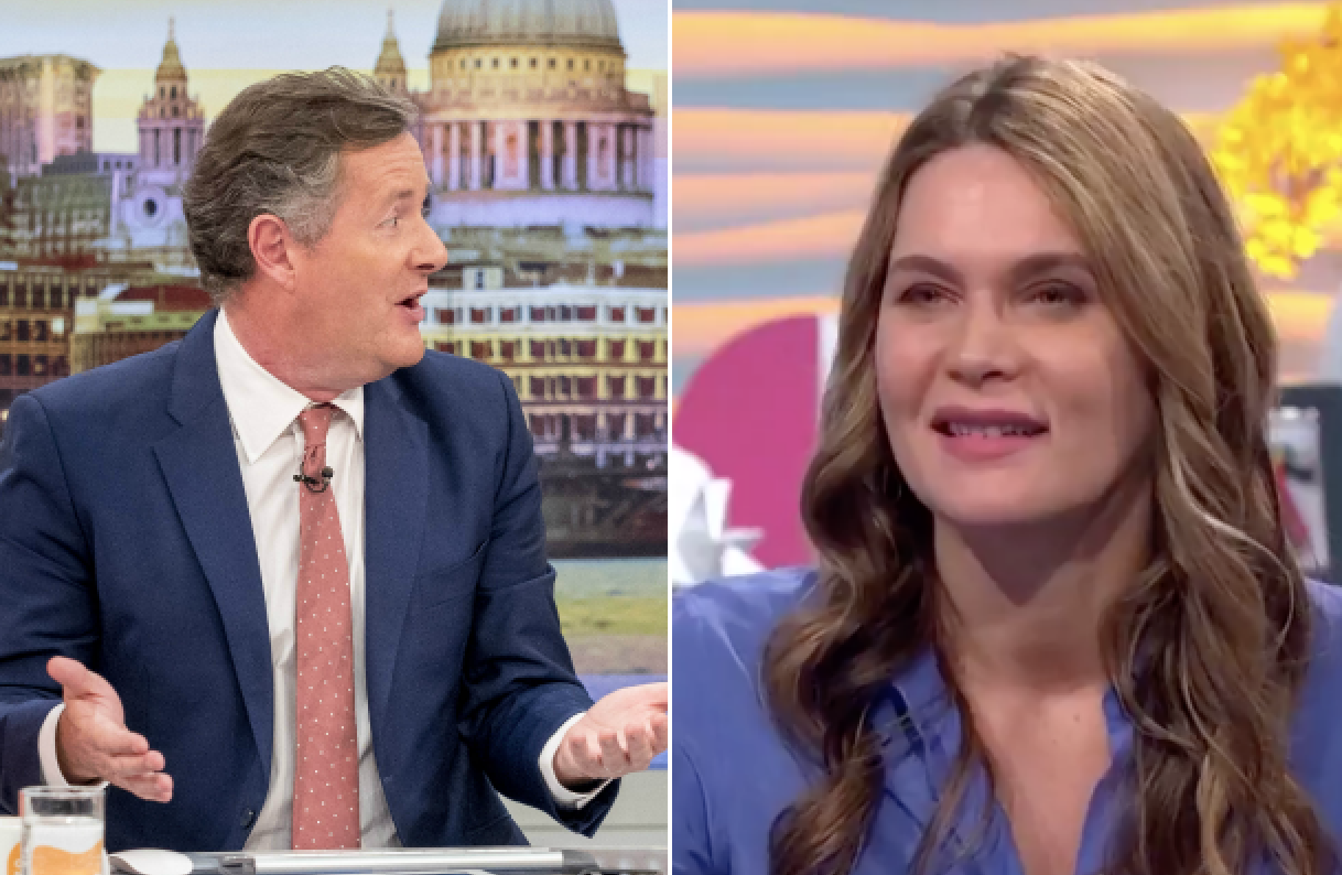 Celia Walden Surprises Husband Piers Morgan On Live Tv