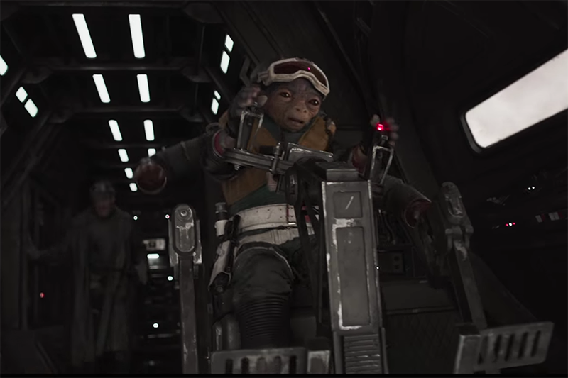 A new alien in Solo: A Star Wars story (Lucasfilm, HF)