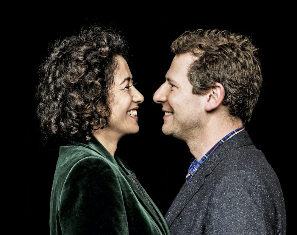 Olly Mann and Samira Ahmed (RT shoot Gary Moyes, EH)