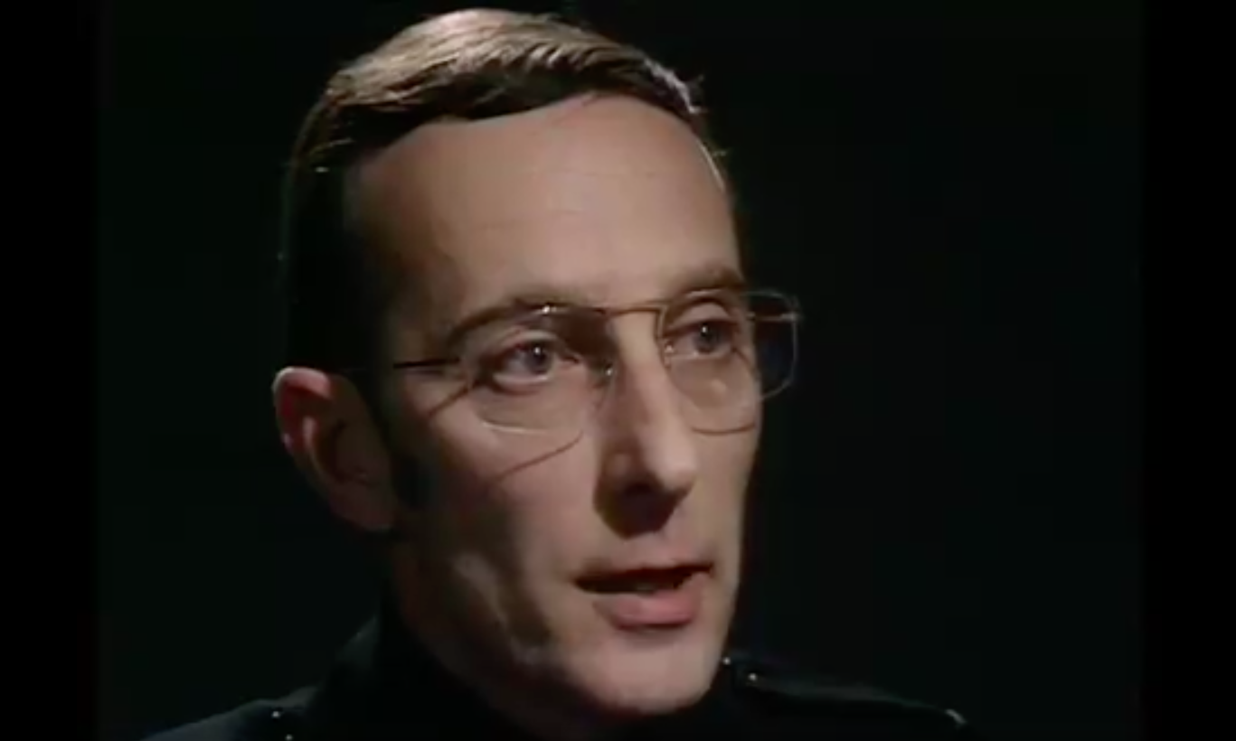 Peter Miles, Doctor Who (screenshot from Twitter clip, EH)