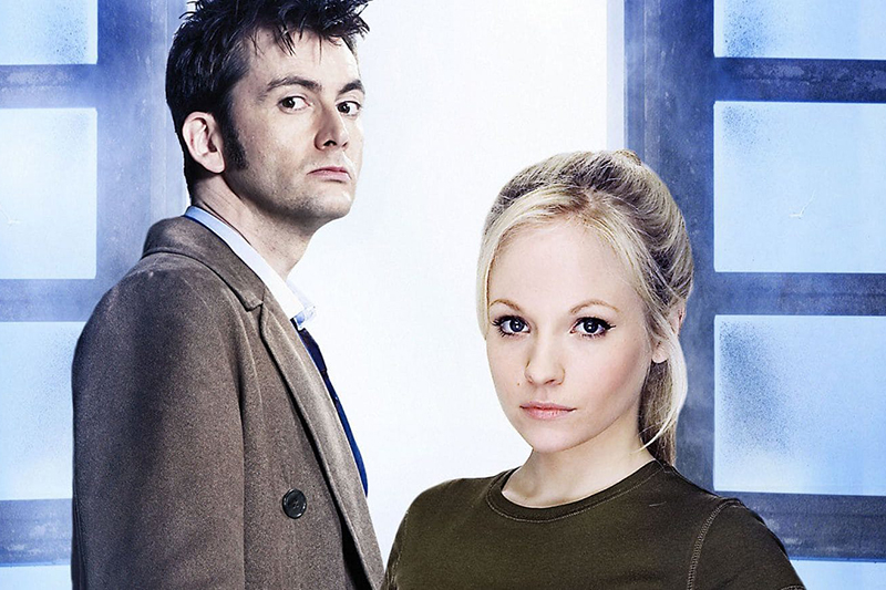 David Tennant and Georgia Tennant in Doctor Who (BBC, HF)
