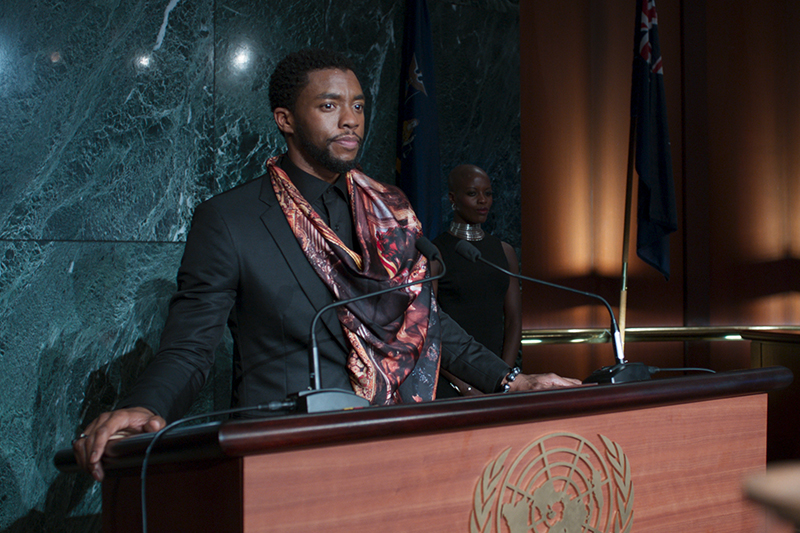 Chadwick Boseman as T'Challa/Black Panther in Black Panther (Marvel, HF)