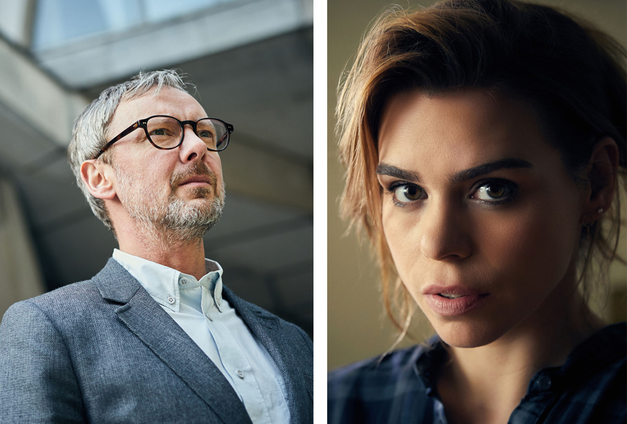 Billie Piper and John Simm in the new BBC2 crime drama Collateral (BBC Pictures, JG)
