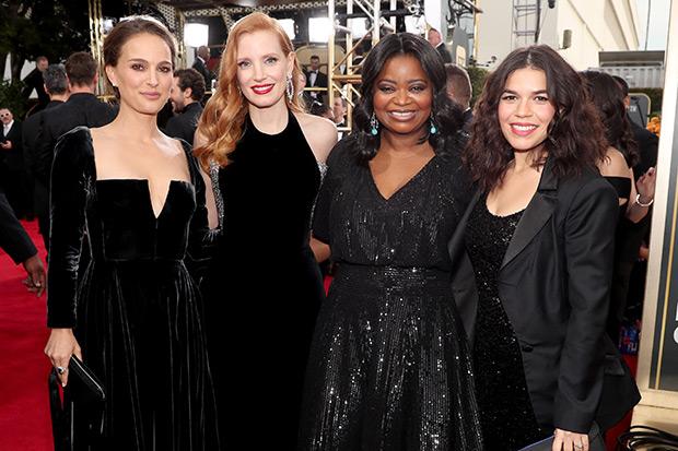 Golden Globes red carpet, Getty, SL