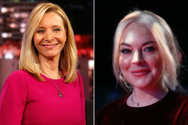 Lisa Kudrow and Lindsay Lohan, Getty, EBG/SL