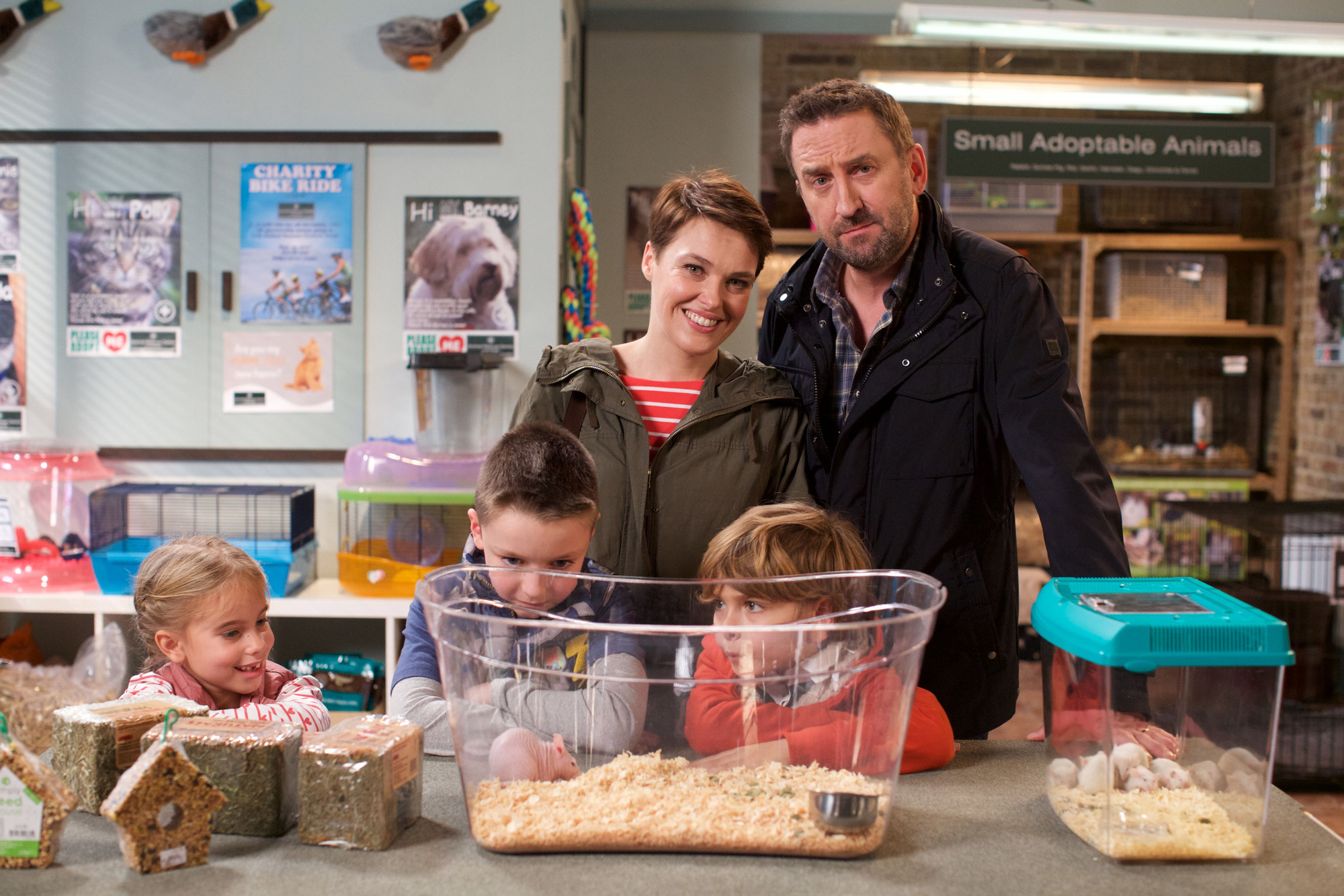 Programme Name: Not Going Out  - TX: n/a - Episode: Generic (No. Generic) - Picture Shows: (L-R) Molly (FRANCESCA NEWMAN), Charlie (FINLEY SOUTHBY), Lucy (SALLY BRETTON), Benji (MAX PATTISON), Lee (LEE MACK) - (C) Avalon - Photographer: Pete Dadds  BBC, TL
