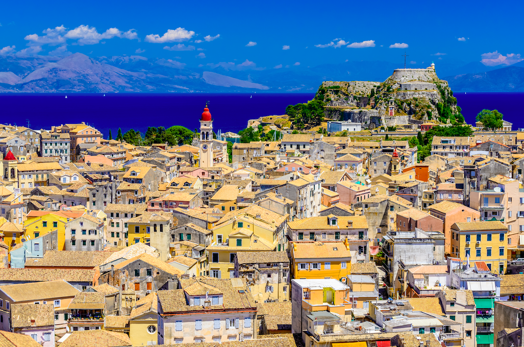 A 16th-century fortress presides over Corfu Town