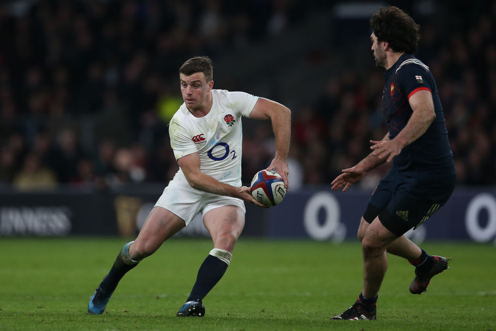 LONDON, ENGLAND - FEBRUARY 04:  George Ford of England passes the ball during the RBS Six Nations match between England and France at Twickenham Stadium on February 4, 2017 in London, England.  (Photo by Steve Bardens - RFU/The RFU Collection via Getty Images)
