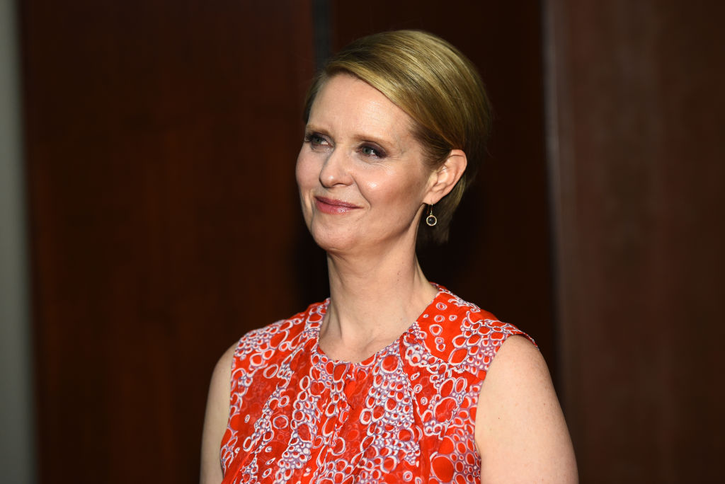 NEW YORK, NY - MARCH 08:  Actress Cynthia Nixon attends Bailey House Gala & Auction 2018 at Pier 60, Chelsea Piers on March 8, 2018 in New York City.  (Photo by Jared Siskin/Patrick McMullan via Getty Images)