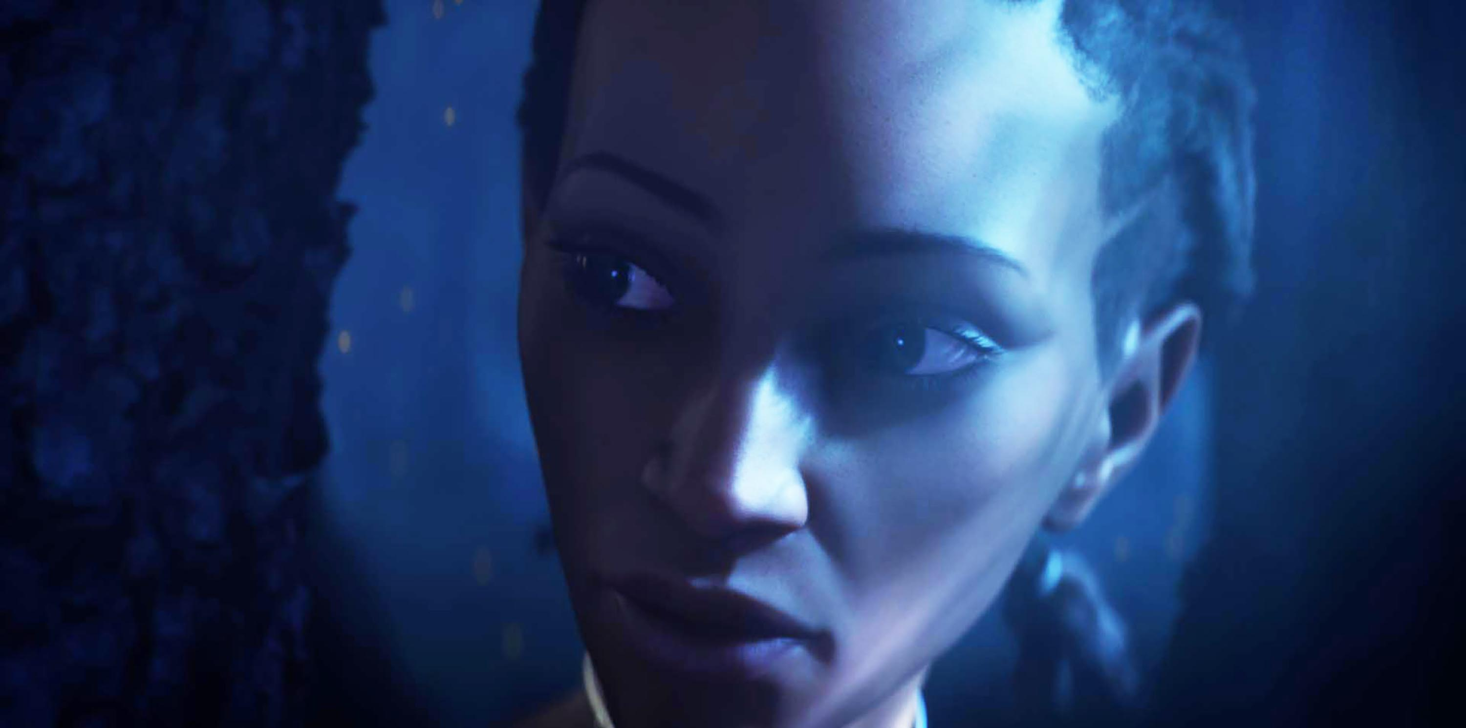 Simona Brown as an avatar in Kiss Me First (Channel 4, EH)