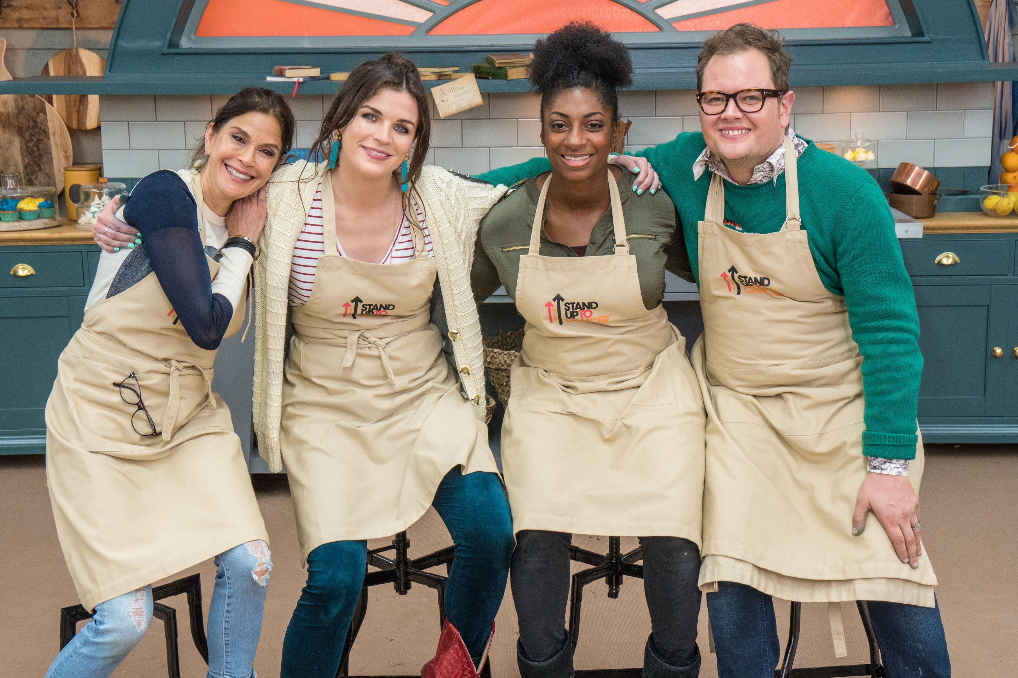 Teri Hatcher, Aisling Bea, Kadeena Cox, and Alan Carr on The Great Celebrity Bake Off