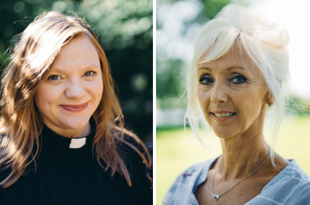 Debbie McGee and Kate Bottley in Pilgrimage: the Road to Santiago, BBC, TL