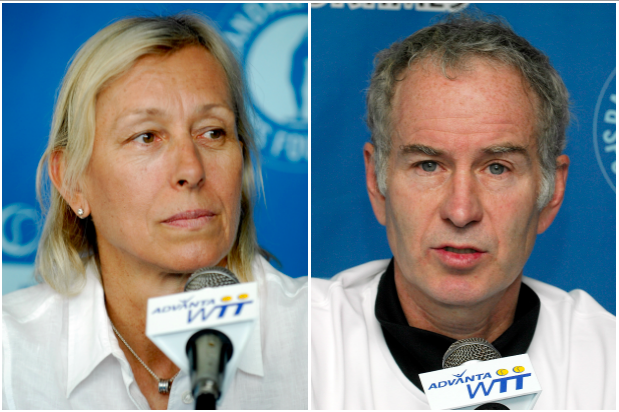 Martina Navratilova and John McEnroe (Getty, EH)