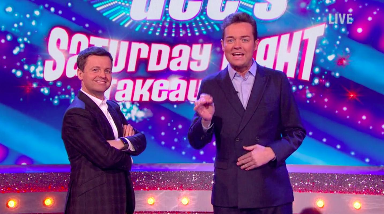 Dec and Stephen Mulhern on Saturday Night Takeaway, ITV Player, SL