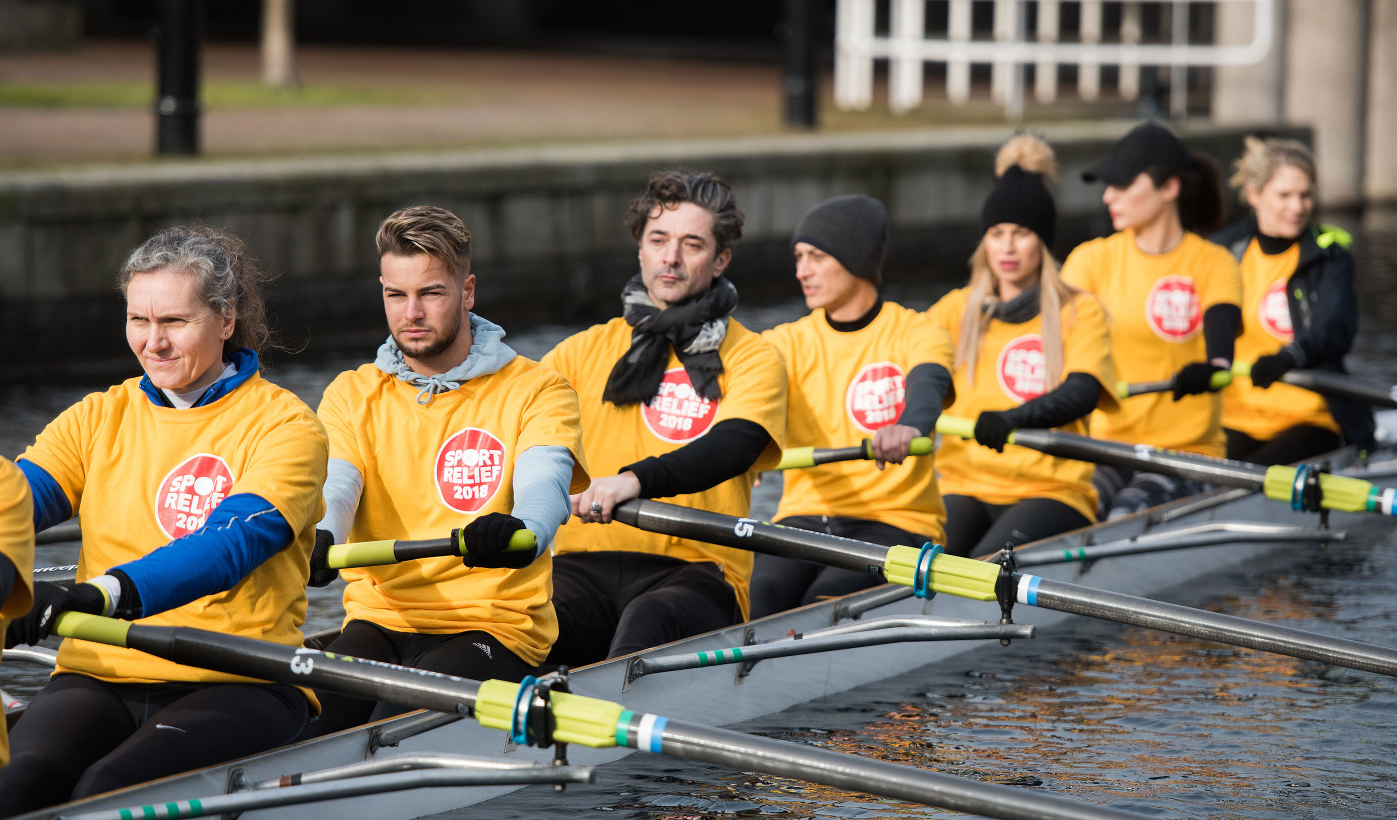 Sport Relief ITV vs BBC Celebrity Rowing