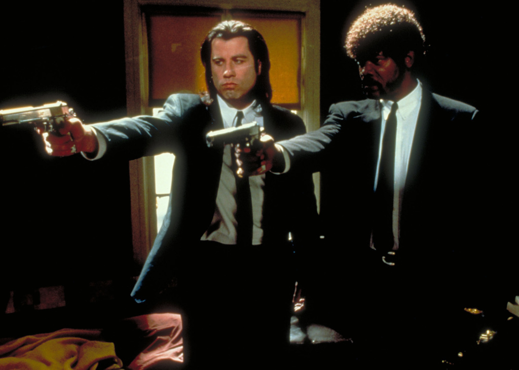Pulp Fiction Featuring John Travolta as Vincent Vega; Samuel L. Jackson as Jules Winnifield © Buena Vista International