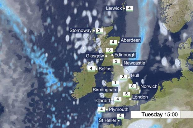 BBC Weather, Radio Times Facebook, SL