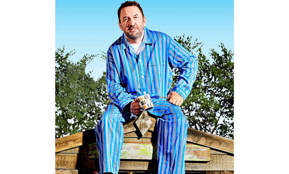 Lee Mack on the roof