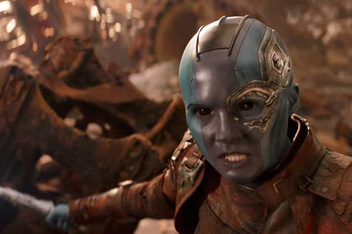 Karen Gillan as Nebula in Avengers: Infinity War (Marvel, HF)
