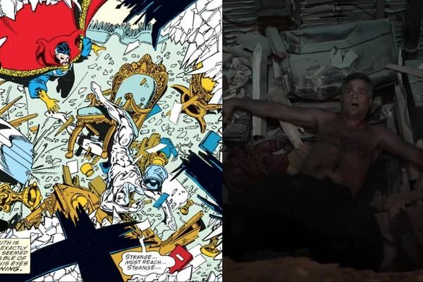Mark Ruffalo's Bruce banner alongside a scene from 1991's Infinity Gauntlet (Marvel, HF)